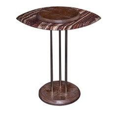 Eye Side Table in Bombay Brown Onyx