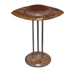 The Eye Side Table in Brown and Orange