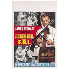 """The FBI Story"" 1959 Belgian Film Poster"