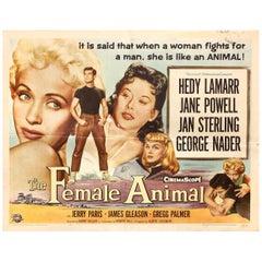 """The Female Animal"" 1958 U.S. Half Sheet Film Poster"