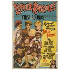 The First Round-Up R1950s U.S. One Sheet Film Poster