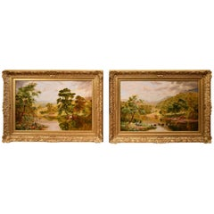 """""""The Fishermans Hunt"""" Pair by William Irving"""