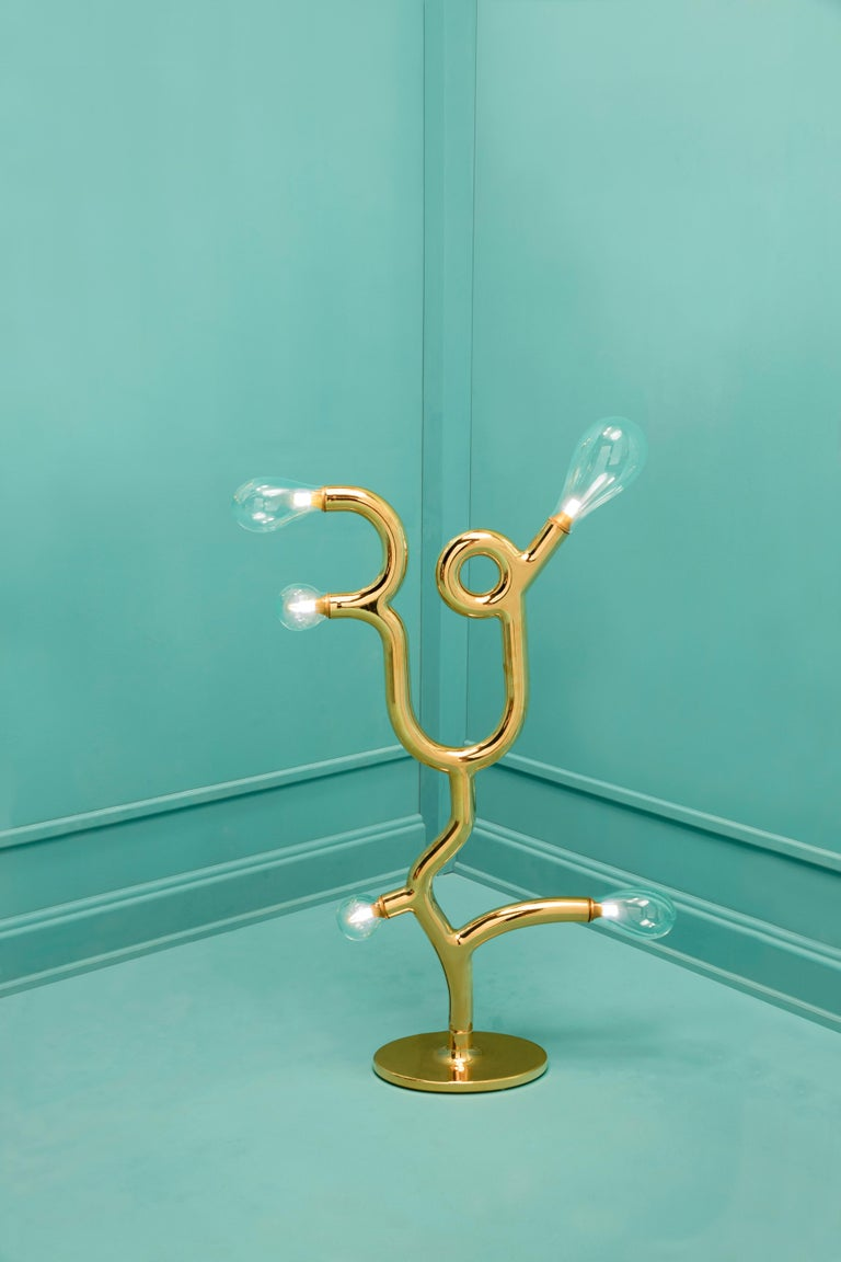 Modern Five Bulb Floor Lamp by Matteo Cibic For Sale