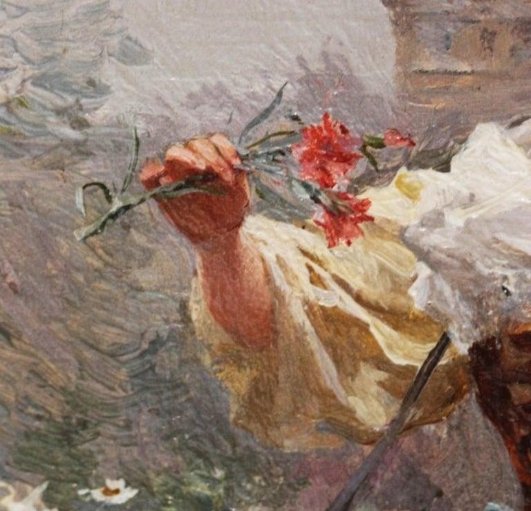 Flower Girl by Louis Marie de Schryver For Sale 1