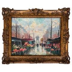 """""""The Flower Market, Paris"""" by Jean Salabet"""