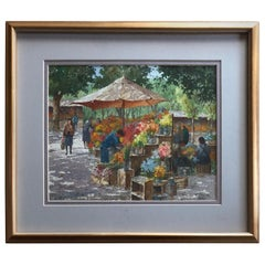 """The Flower Workers, Rome"" by Henry Martin Gasser"