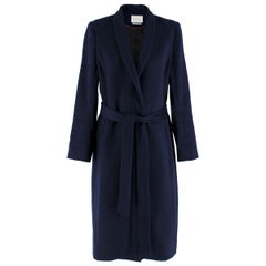 The Fold Navy Wool & Cashmere Blend Coat  UK 10