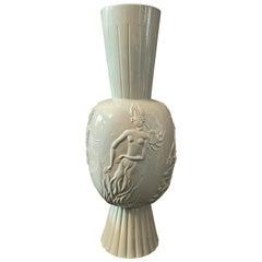 """""""The Four Elements,"""" Important, Unique Art Deco Vase by Vienna Werkstatte Artist"""