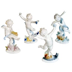 Four Seasons German Porcelain Figurines