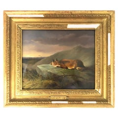 'The Fox' Victorian Oil Painting Attributed to Sir Edwin Landseer