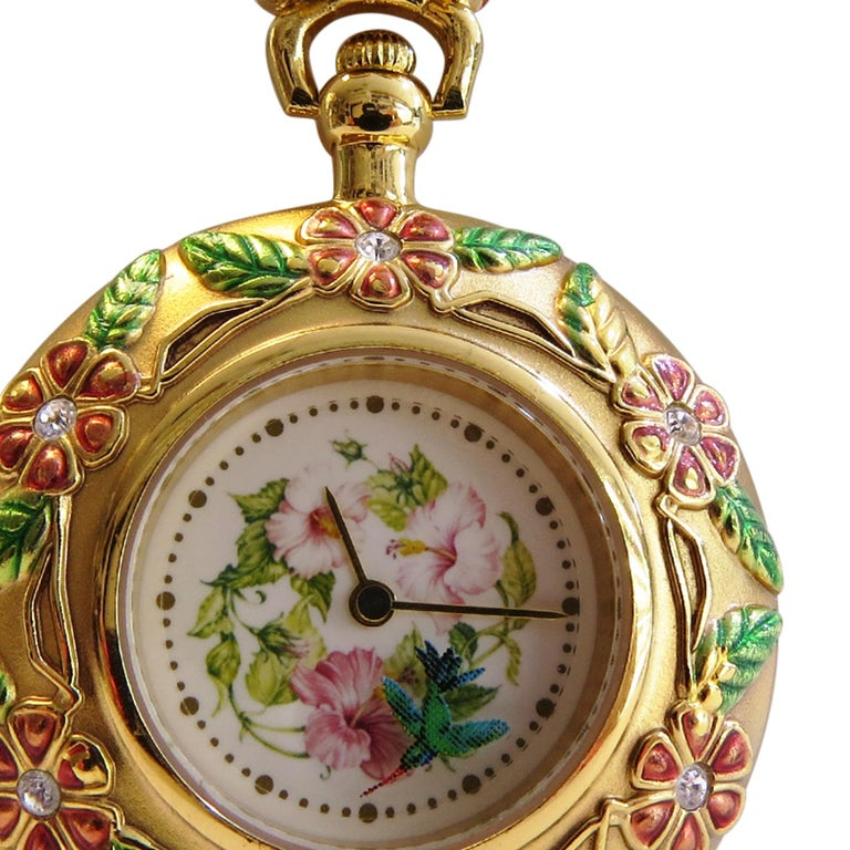 Franklin Mint Pocket Watch In Excellent Condition For Sale In Jackson Heights, NY