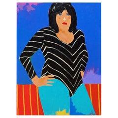 'The Furious Julie' Portrait Painting by Alan Fears Pop Art Wrestling Lady