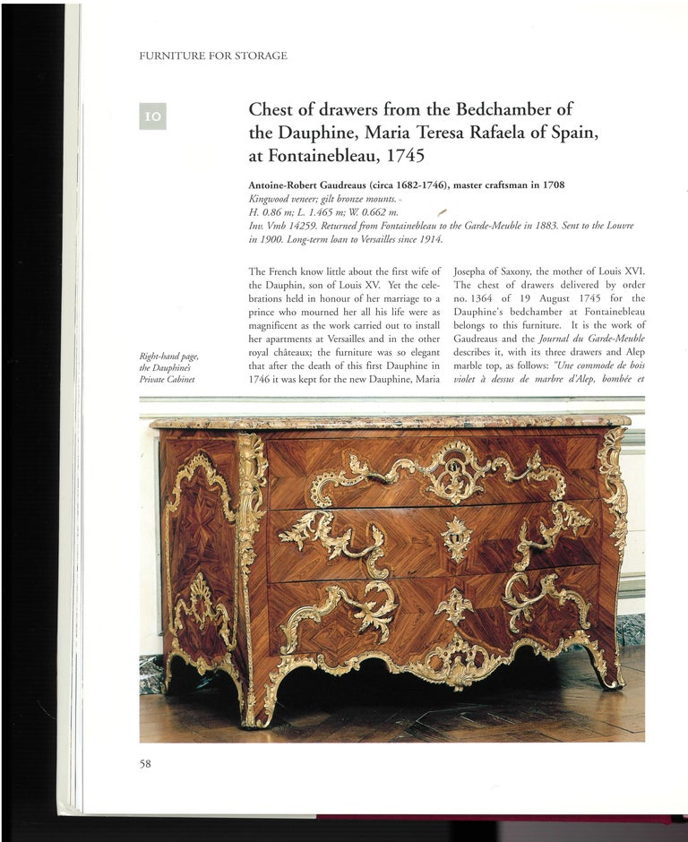 A beautifully photographed 2 volume box set of books which presents this prestigious collection of furniture in a way that cannot be seen by visitors to the palace. Versailles was the splendid palatial residences of the kings of France from the late