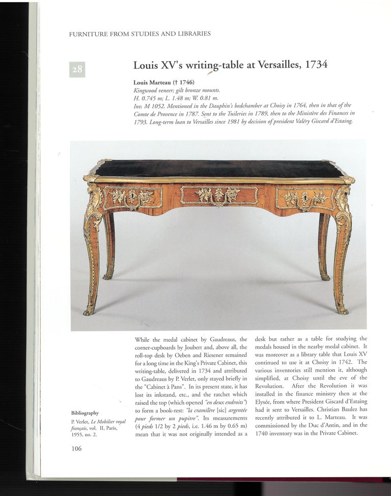 The Furniture of Versailles, 17th and 18th Centuries '2 Volume Box Set' In Excellent Condition For Sale In North Yorkshire, GB
