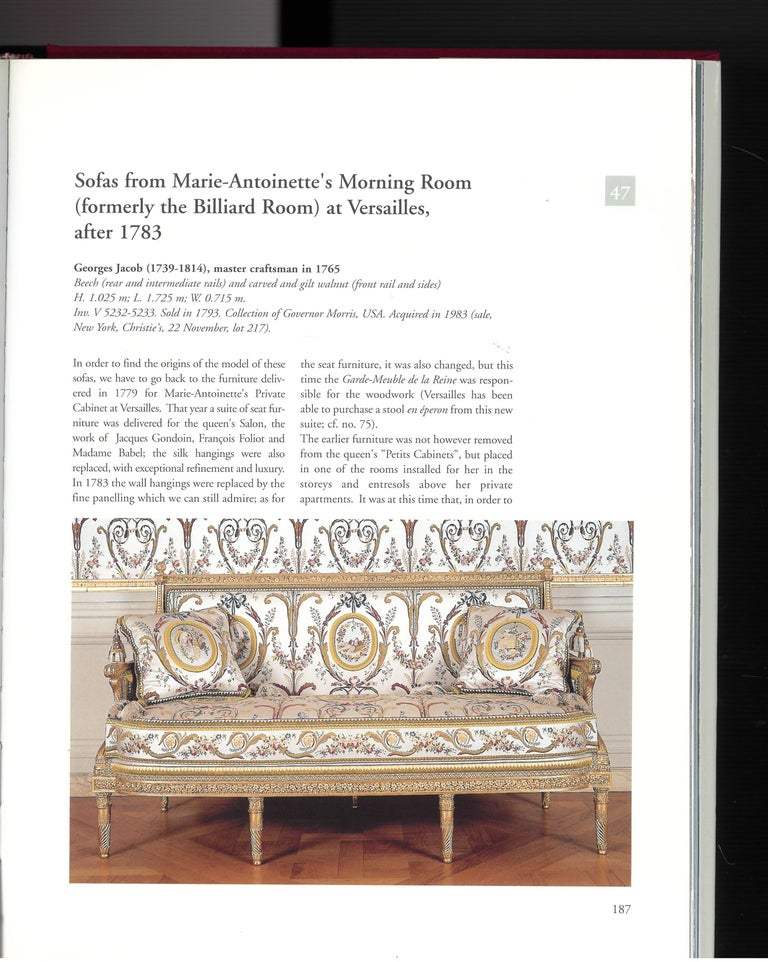 18th Century and Earlier The Furniture of Versailles, 17th and 18th Centuries '2 Volume Box Set' For Sale