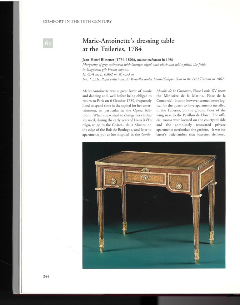 Paper The Furniture of Versailles, 17th and 18th Centuries '2 Volume Box Set' For Sale