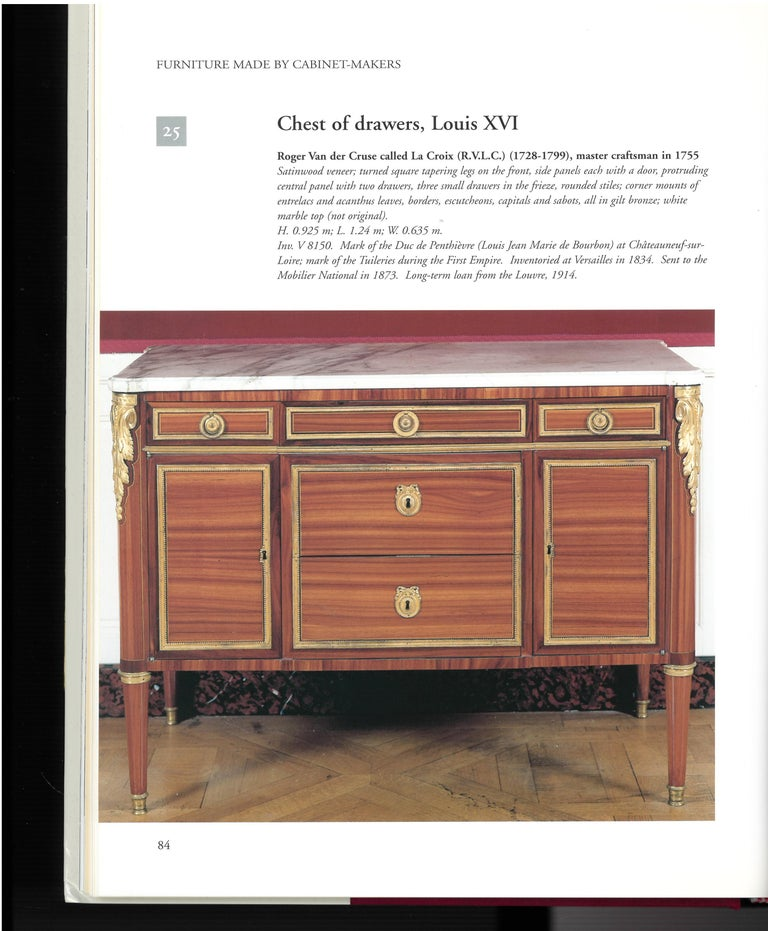The Furniture of Versailles, 17th and 18th Centuries '2 Volume Box Set' For Sale 2