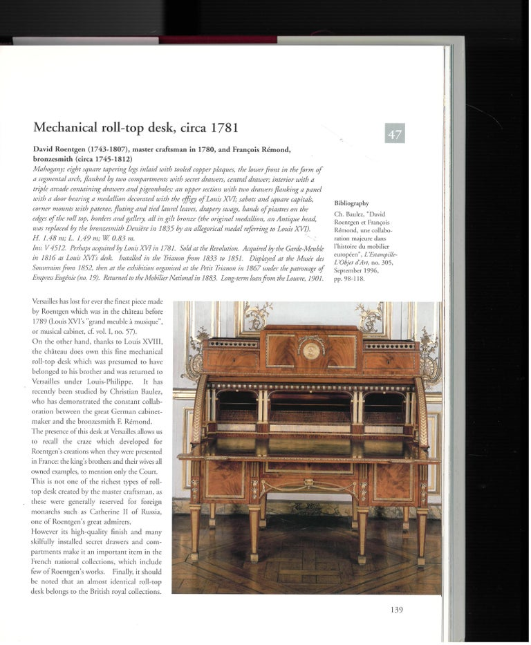 The Furniture of Versailles, 17th and 18th Centuries '2 Volume Box Set' For Sale 3