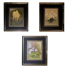 """The Garden"" by W. Robinson Three English Chromolithographic Prints with Frame"