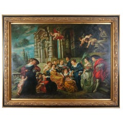 "The Garden of Love"" After Peter Paul Rubens Baroque Renaissance Oil Painting"