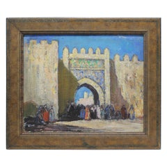 """""""The Gate"""" Oil on Board Painting by Donald Frederick Witherstine"""