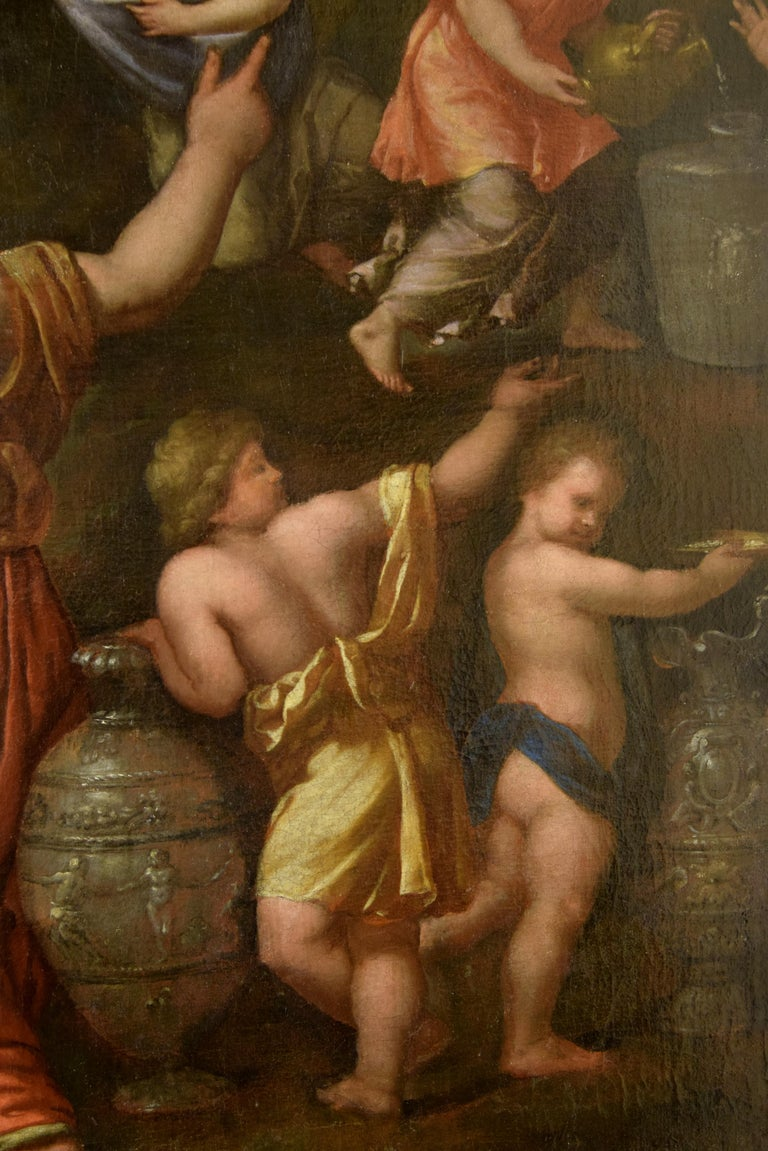 Gathering of Manna, Oil on Canvas, 17th Century For Sale 3