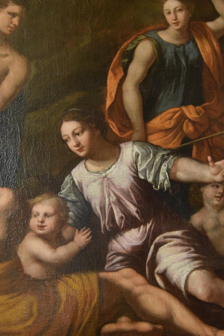 Gathering of Manna, Oil on Canvas, 17th Century For Sale 2