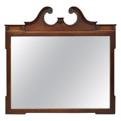 The Georgetown Galleries Mahogany Chippendale Broken Arch Dresser Wall Mirror