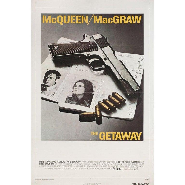 American 'The Getaway' 1972 U.S. One Sheet Film Poster