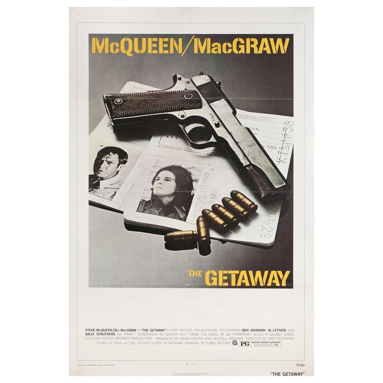 'The Getaway' 1972 U.S. One Sheet Film Poster