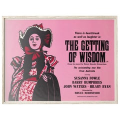 The Getting of Wisdom 1977 Academy Cinema London UK Quad Film Poster, Strausfeld