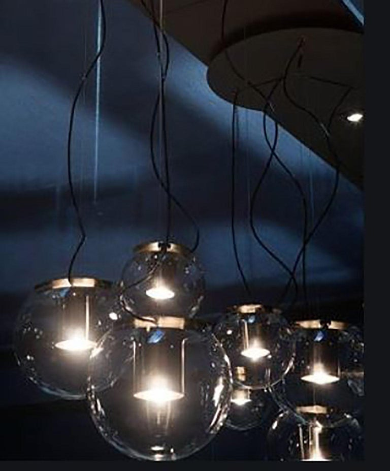 Contemporary Globe Suspension Lamp by Joe Colombo for Oluce For Sale