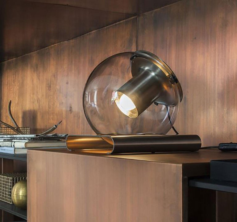 Italian Globe Table Lamp by Joe Colombo for Oluce For Sale