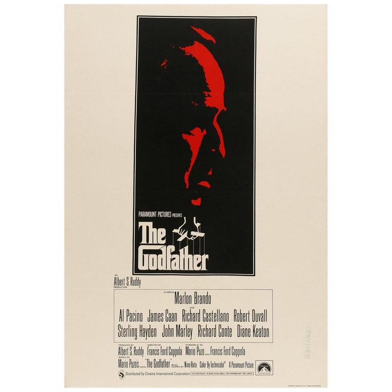 'The Godfather' Original Vintage Movie Poster, British, 1972 For Sale