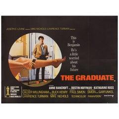 """""""The Graduate"""" 1967 British Quad Film Poster"""