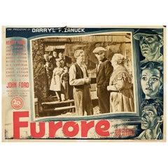 The Grapes of Wrath 1948 Italian Fotobusta Film Poster
