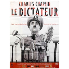 'The Great Dictator' R2002 French Grande Film Poster
