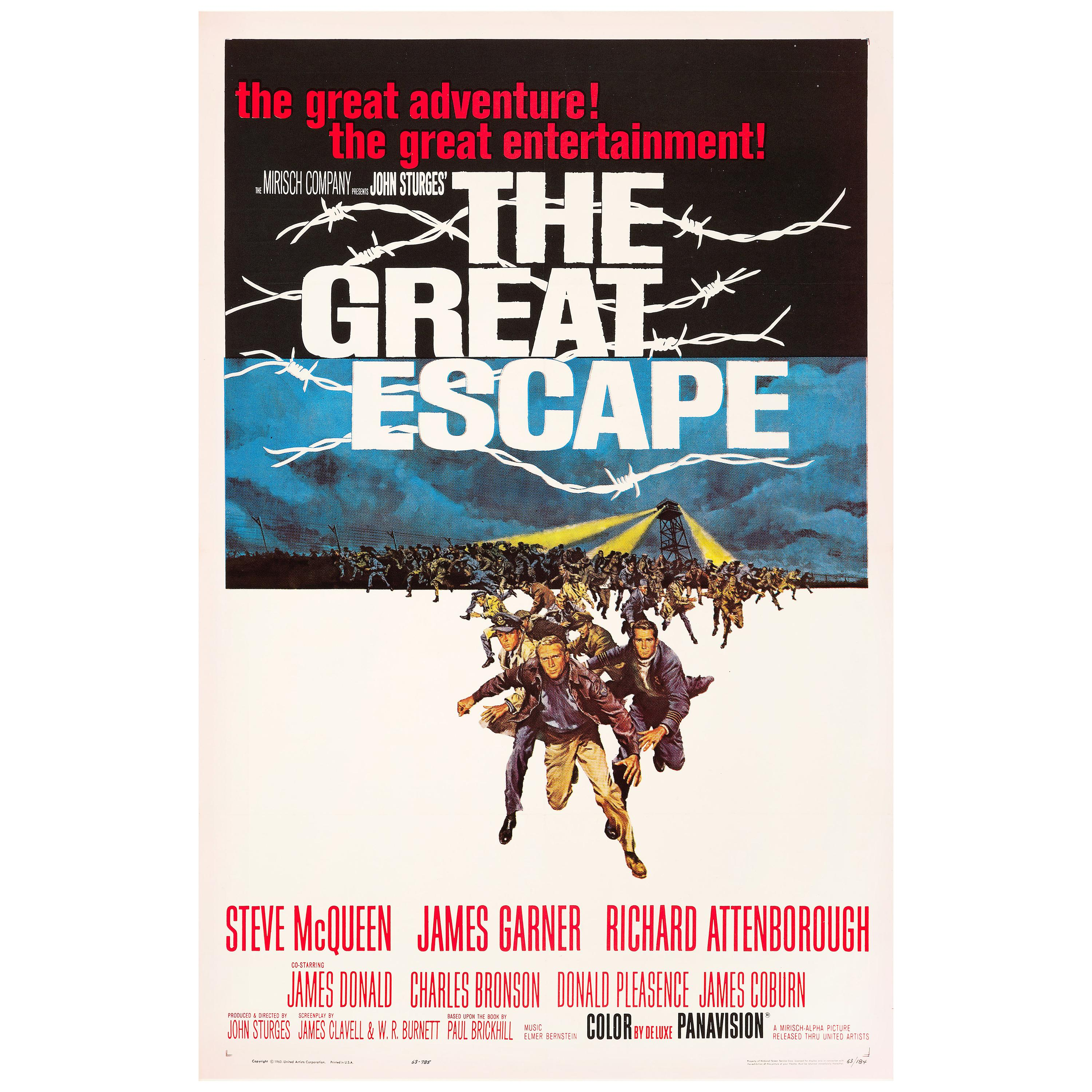 'The Great Escape' Original Vintage US One Sheet Movie Poster, 1963