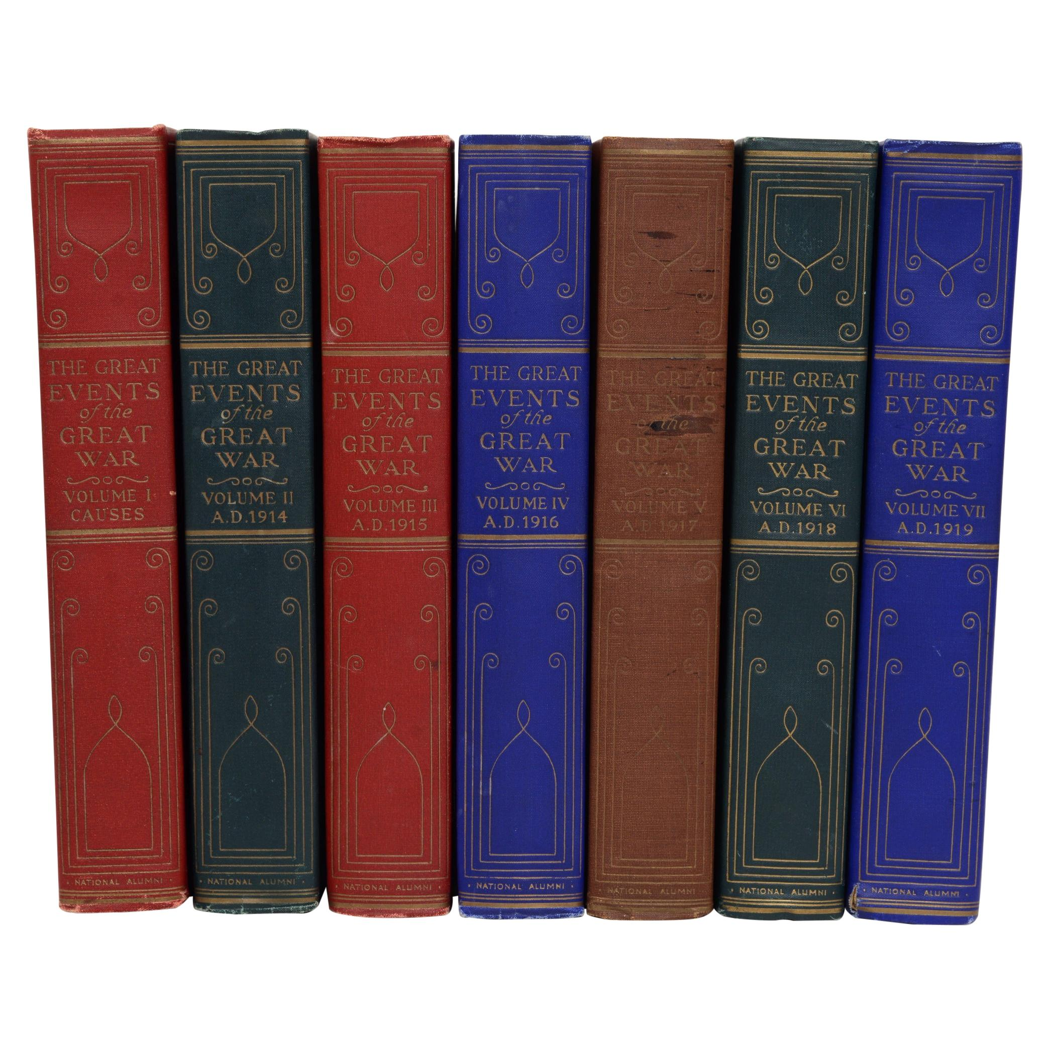 The Great Events of Great War in 7 Volumes Complete, First Edition