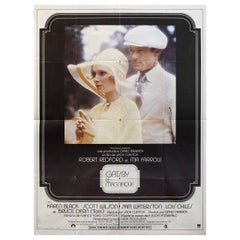 """'The Great Gatsby"""" 1974 French Grande Film Poster"""
