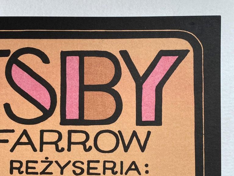 Paper 'The Great Gatsby' Original Vintage Polish Film Poster by Jerzy Flisak, 1975