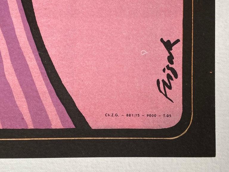 'The Great Gatsby' Original Vintage Polish Film Poster by Jerzy Flisak, 1975 3