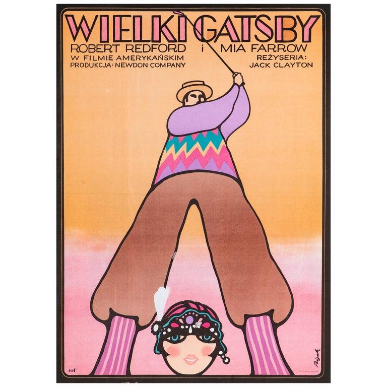 'The Great Gatsby' Original Vintage Polish Film Poster by Jerzy Flisak, 1975