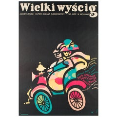 The Great Race Original Vintage Polish Film Poster, Jerzy Flisak 1966