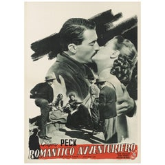 """The Gunfighter or Romantico Avventuriero"" Film Poster"