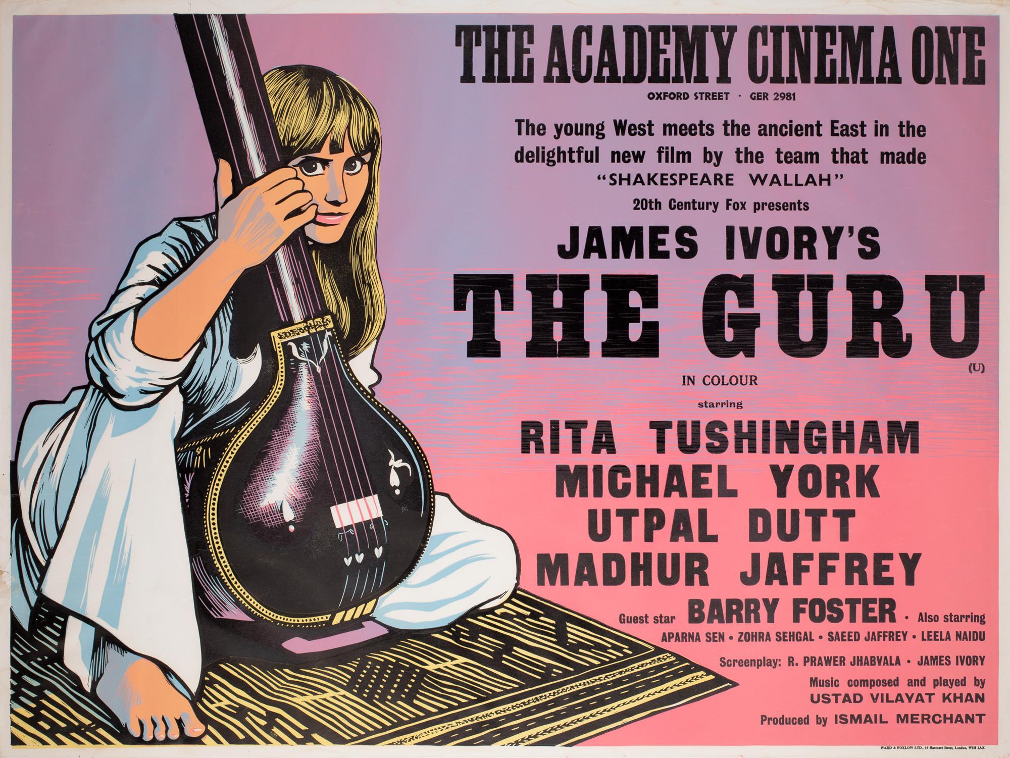 The Guru 1969 Academy Cinema UK Quad Film Poster, Strausfeld