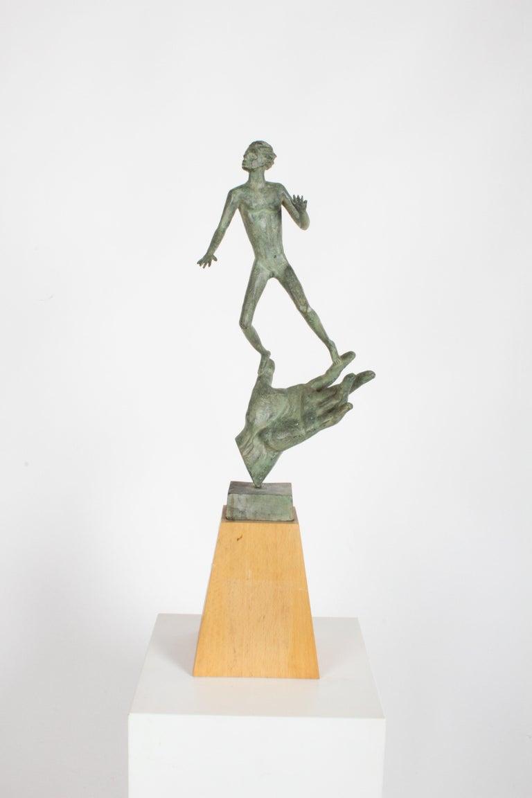 The Hand of God Bronze Sculpture After Carl Milles Sculptor  For Sale 8