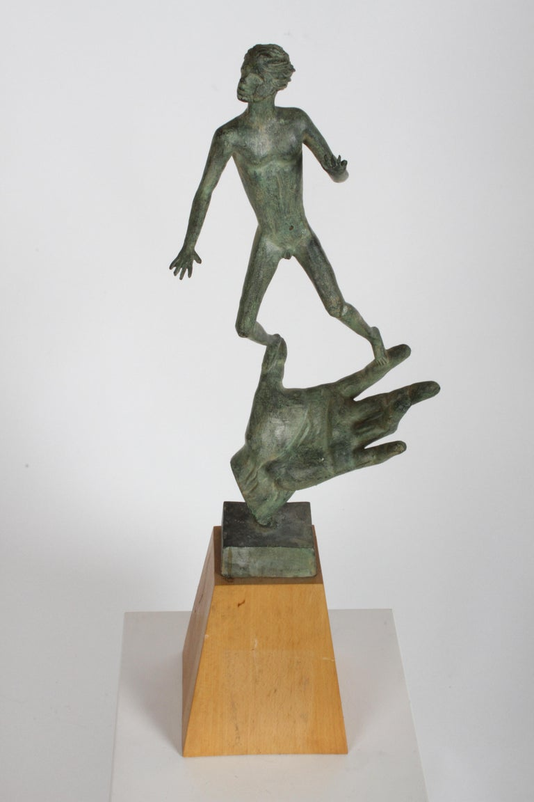 The Hand of God Bronze Sculpture After Carl Milles Sculptor  For Sale 9