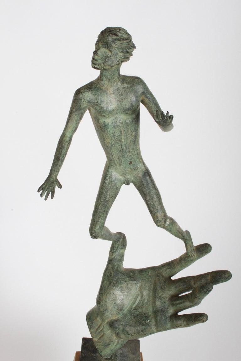 The Hand of God Bronze Sculpture After Carl Milles Sculptor  For Sale 11