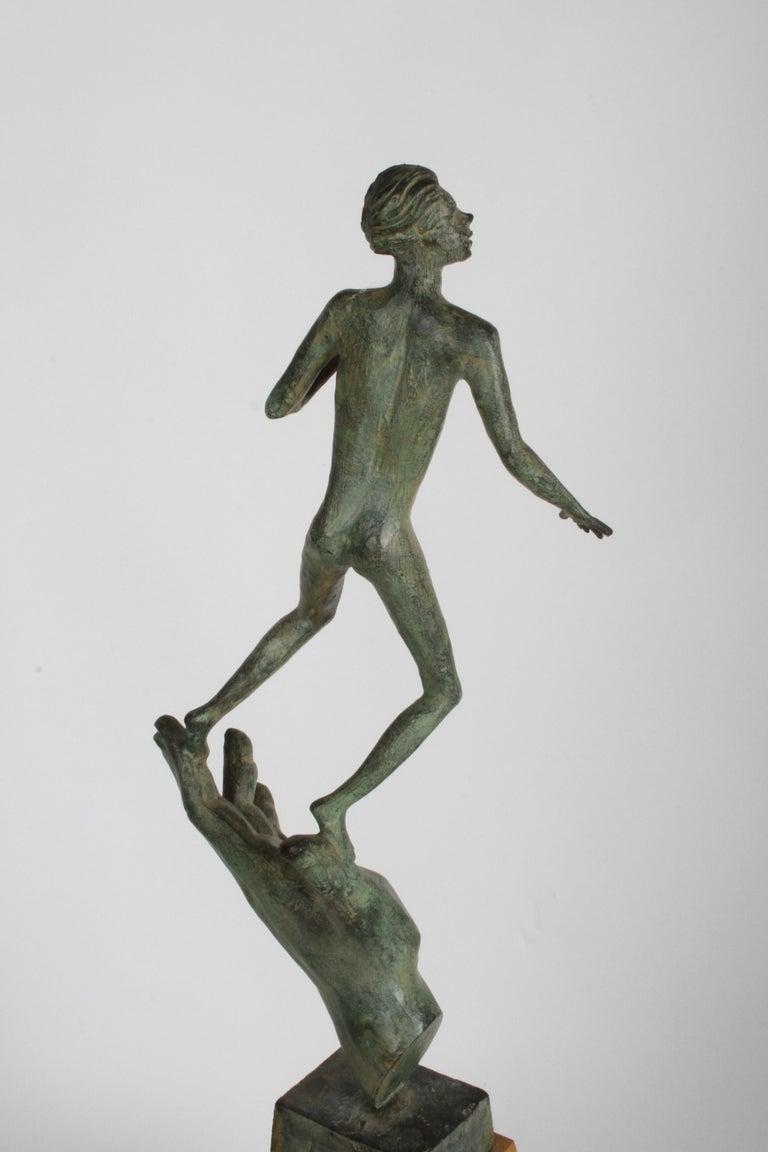 The Hand of God Bronze Sculpture After Carl Milles Sculptor  For Sale 13